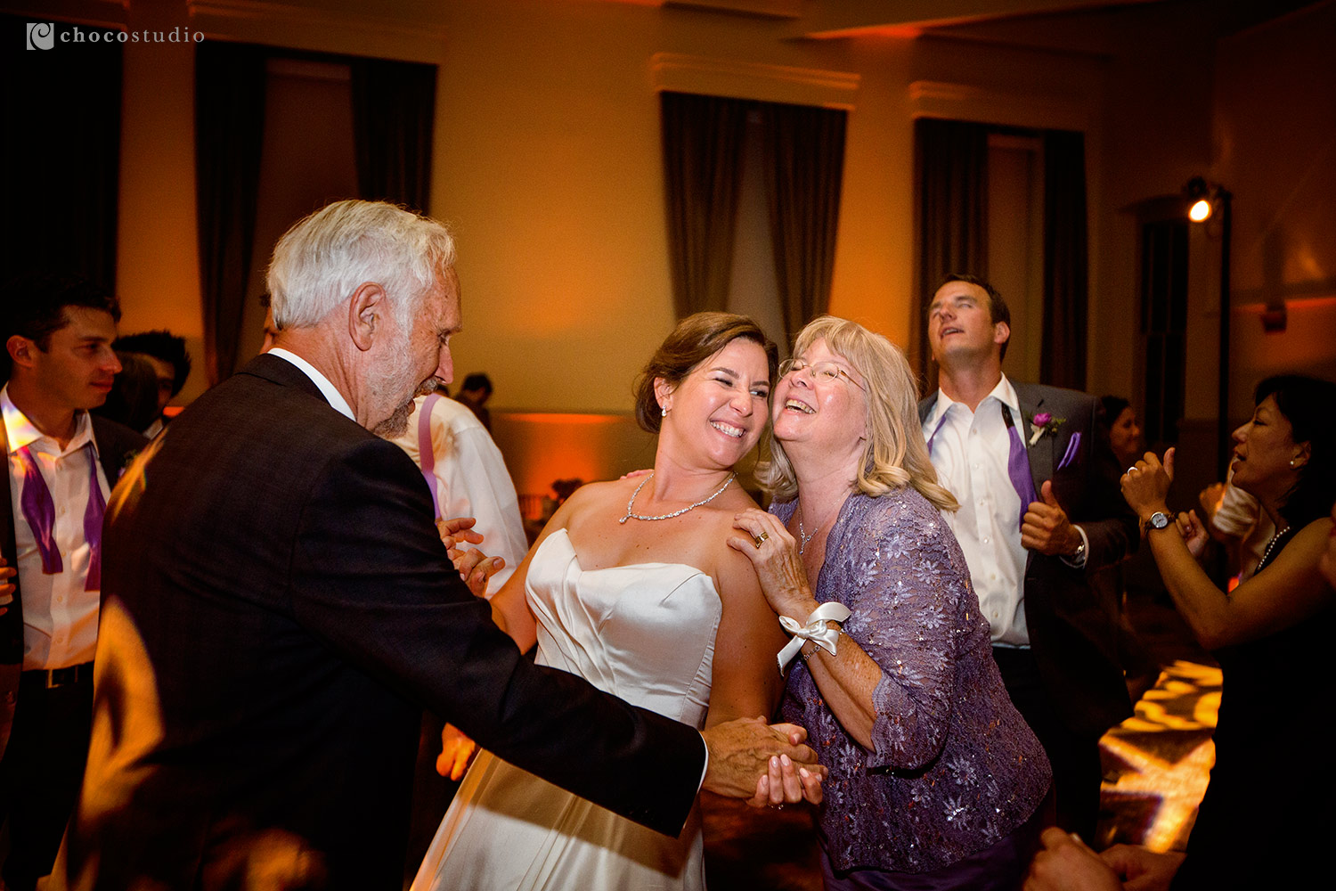Family Dancing Intimate Reception Cavallo Point Lodge Wedding