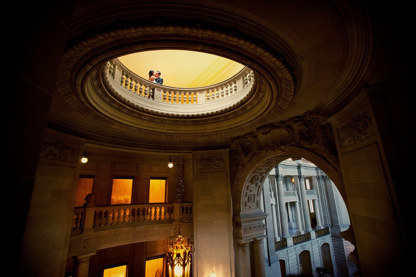 Creative Lighting for Wedding Event Booking at San Francisco City Hall Wedding