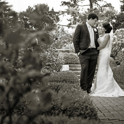 Wedding Portrait at Kohl Mansion in Burlingame