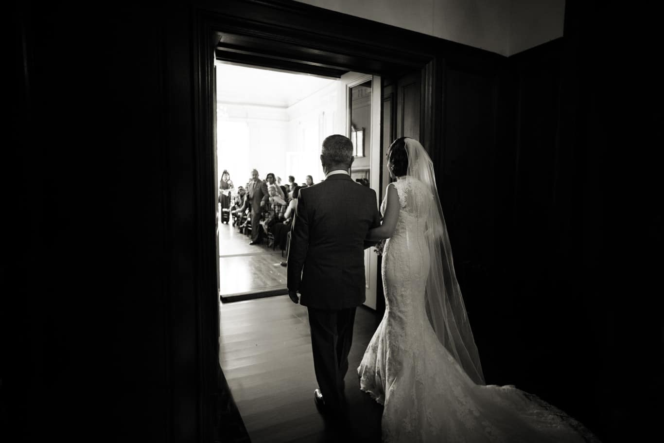 Ceremony Processional at Kohl Mansion Wedding