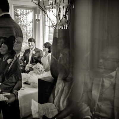 Persian Wedding Ceremony at Kohl Mansion Black and White