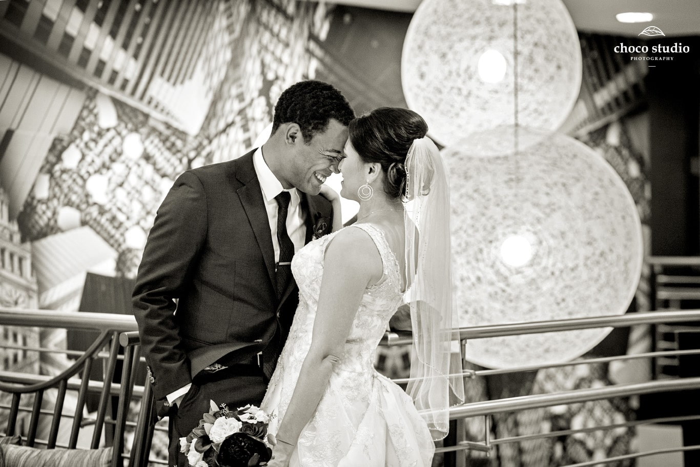 Bride and Groom wedding portrait at San Francisco Marriott