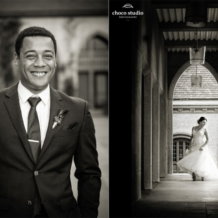 Wedding Portraits at Grace Cathedral