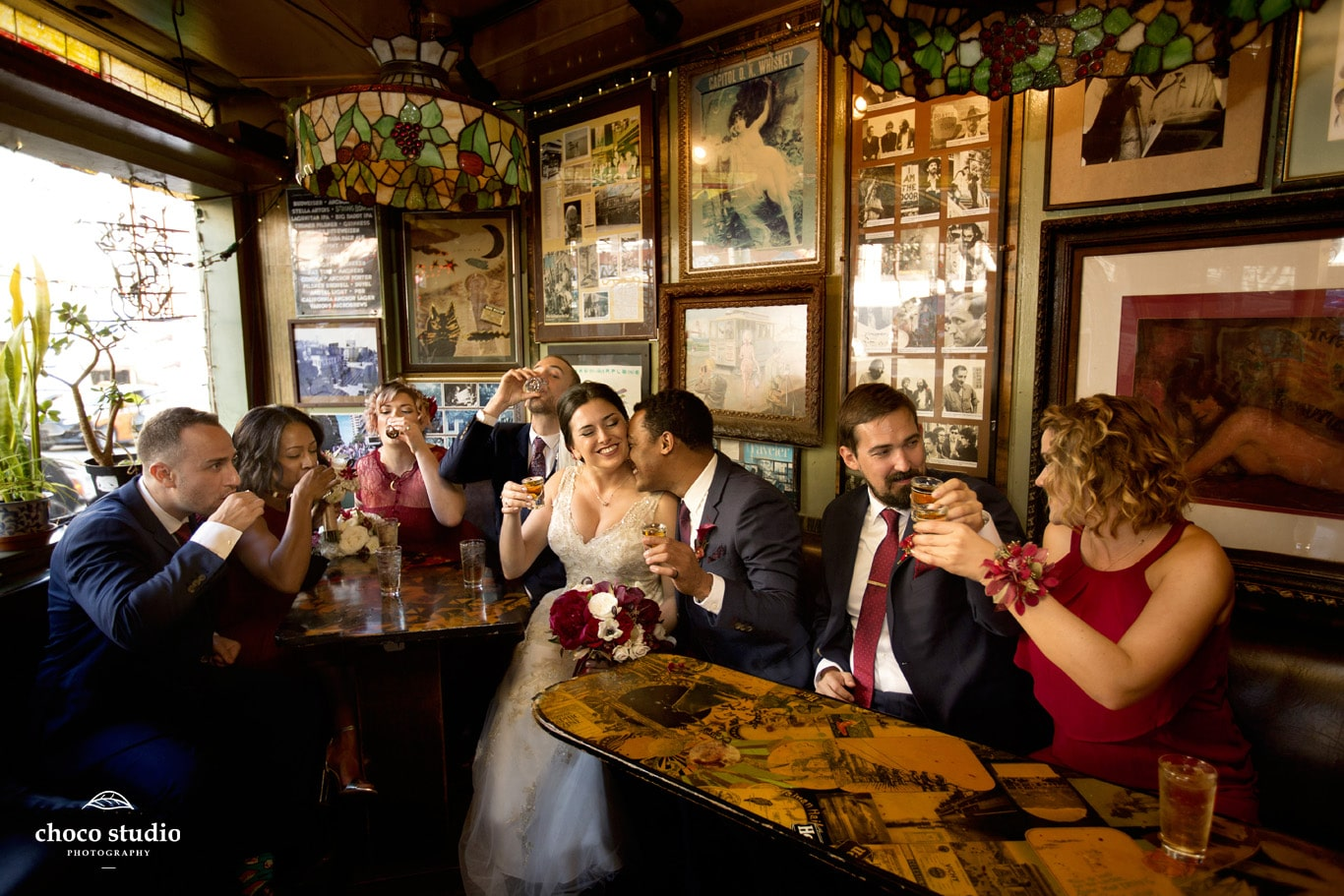 Wedding Portraits at Vesuvio in San Francisco