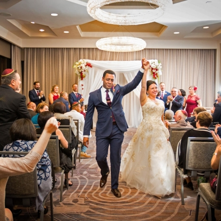 Savoy Ballroom Ceremony at SF Union Square Marriott Wedding