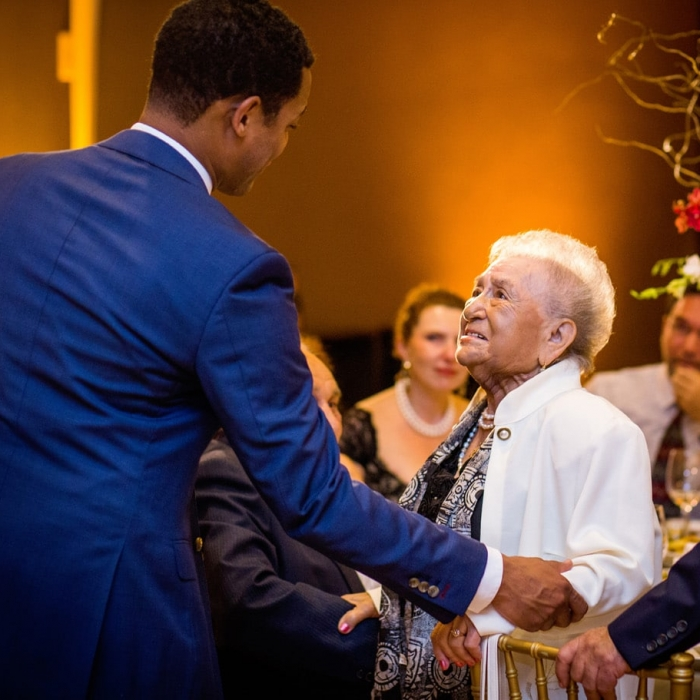 Emotional Moment During Wedding Toasts