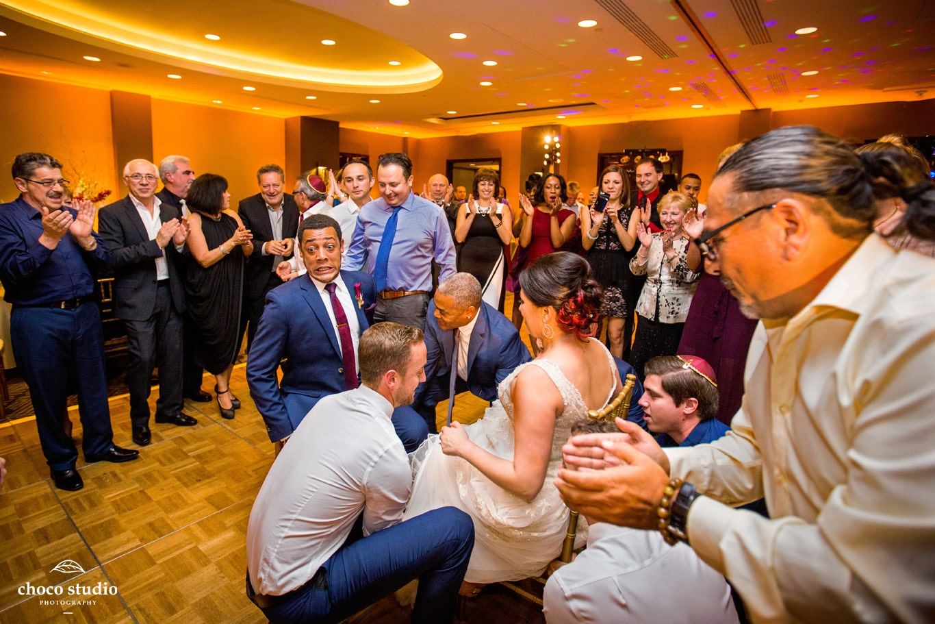Hora Dancing at Union Square Marriott Wedding