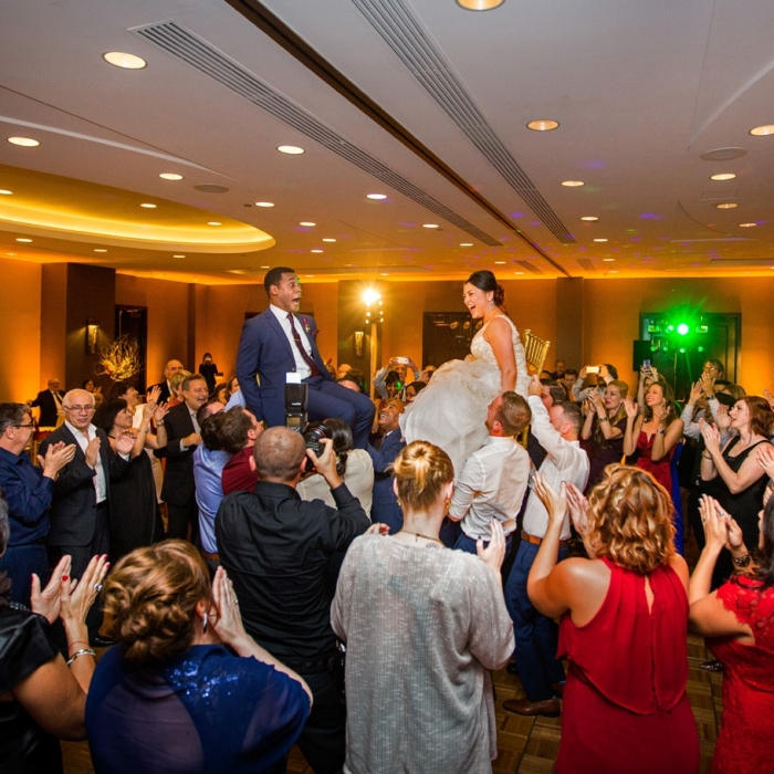 Hora Dancing at Union Square Marriott Wedding Reception