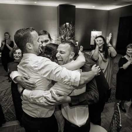 Dance Hugging at Union Square Marriott Wedding