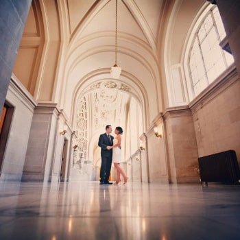Fourth Floor Balcony Wedding at San Francisco City Hall