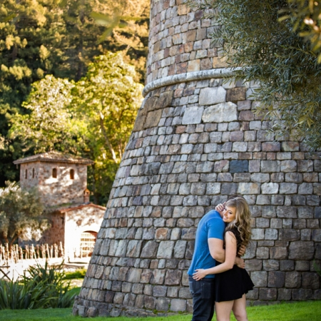 Castello di Amorosa Engagement Portrait