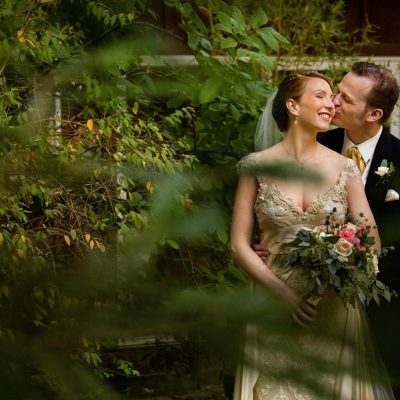 Green Gulch Farm Zen Center Wedding Portrait