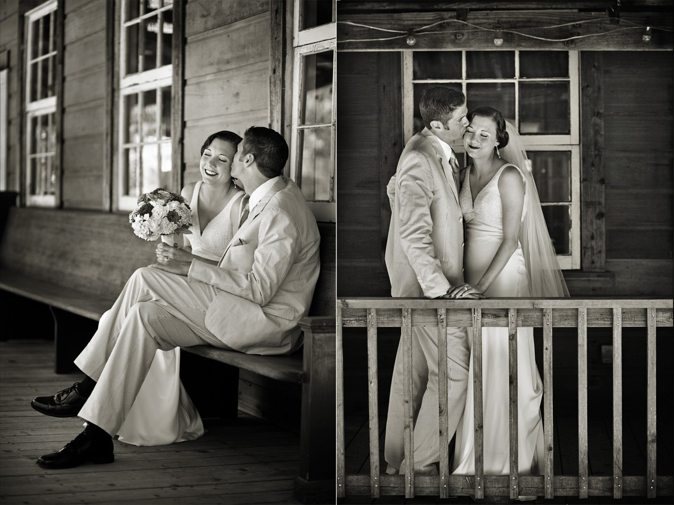 Radonich Ranch Wedding Black White Portrait