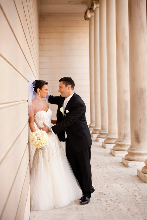 Legion of Honor Wedding Portrait