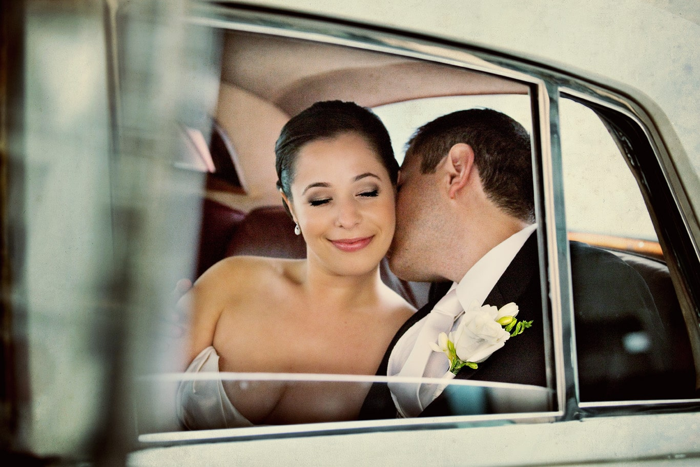 Palace Hotel Wedding Car Portrait