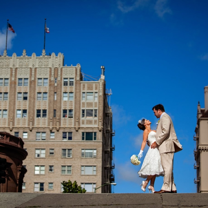Nob Hill Wedding Portrait