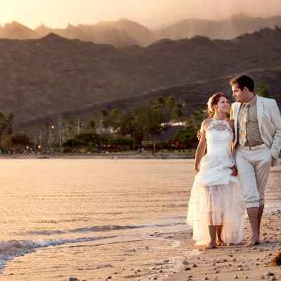 Oahu Destination Wedding Portrait