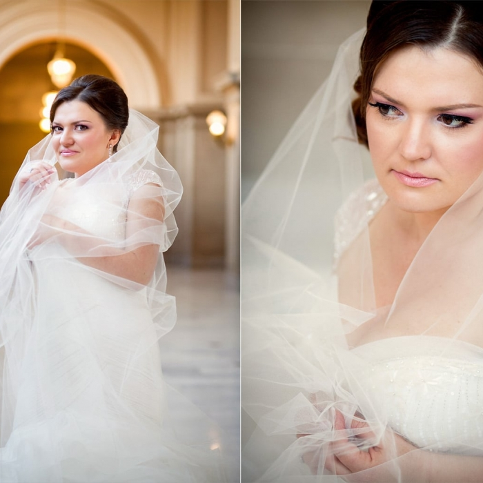 Portrait of Bride at City Hall