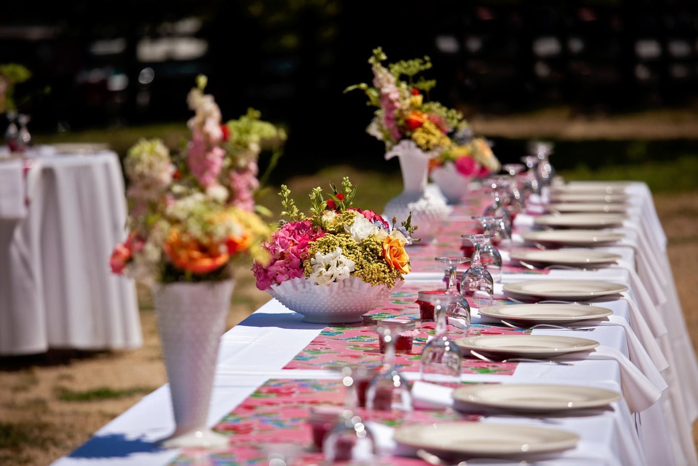Radonich Ranch Wedding Outdoor Reception Details