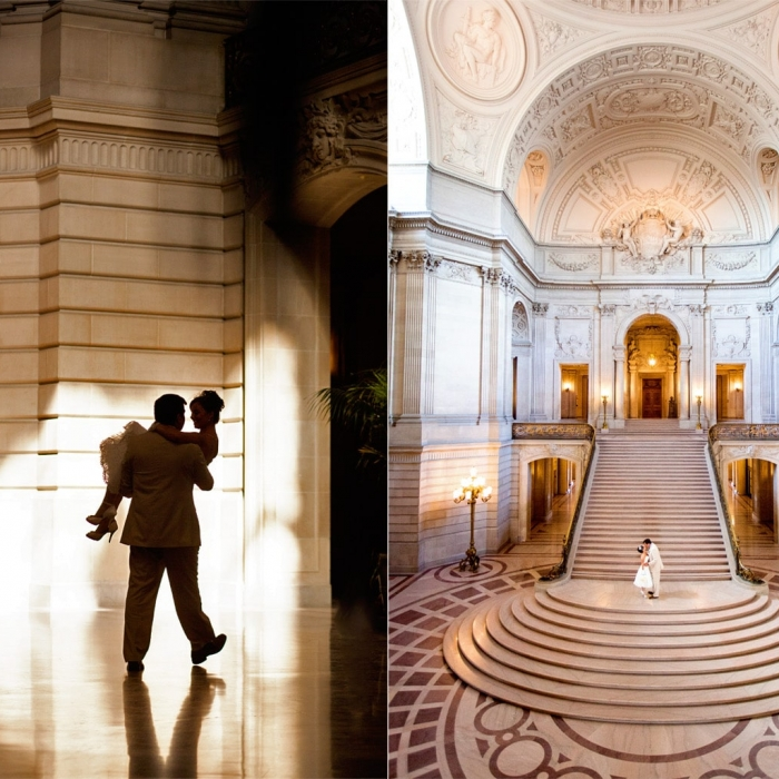 SF City Hall Wedding Portrait