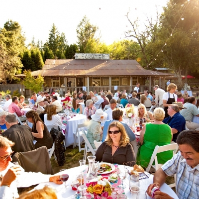 Outdoor Wedding Reception at Radonich Ranch Los Gatos