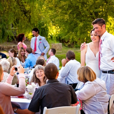 Radonich Ranch Wedding Reception Dinner