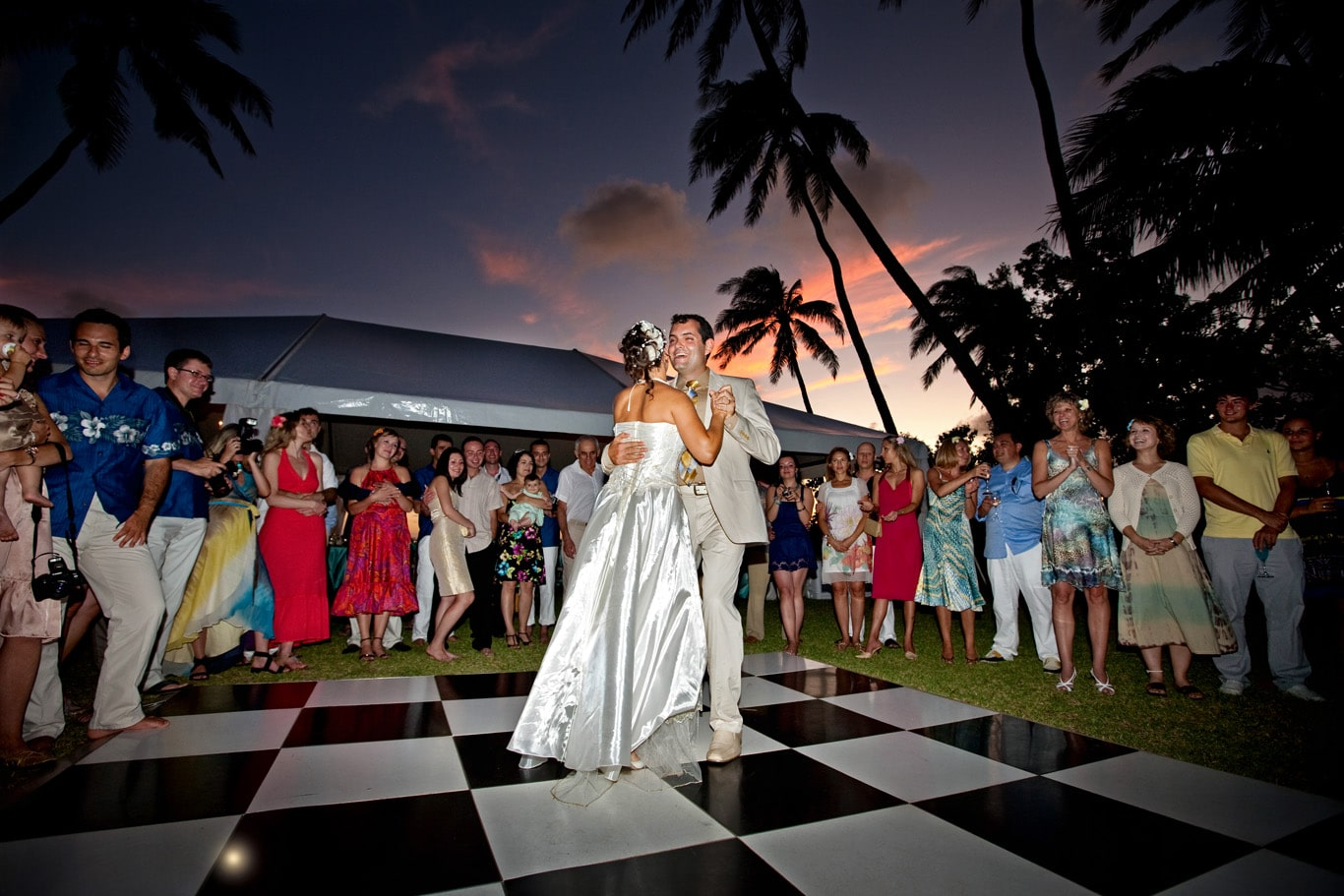 Oahu Destination Wedding Dancing