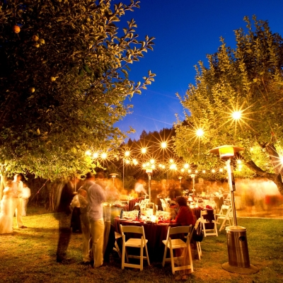 Dawn Ranch Wedding Reception Dusk