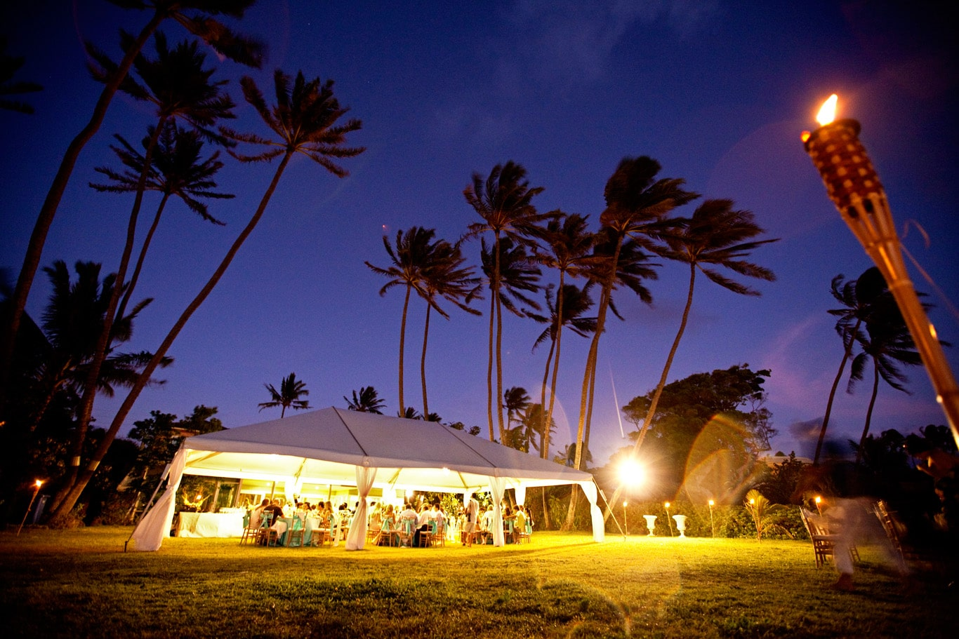 Oahu Destination Wedding Tent