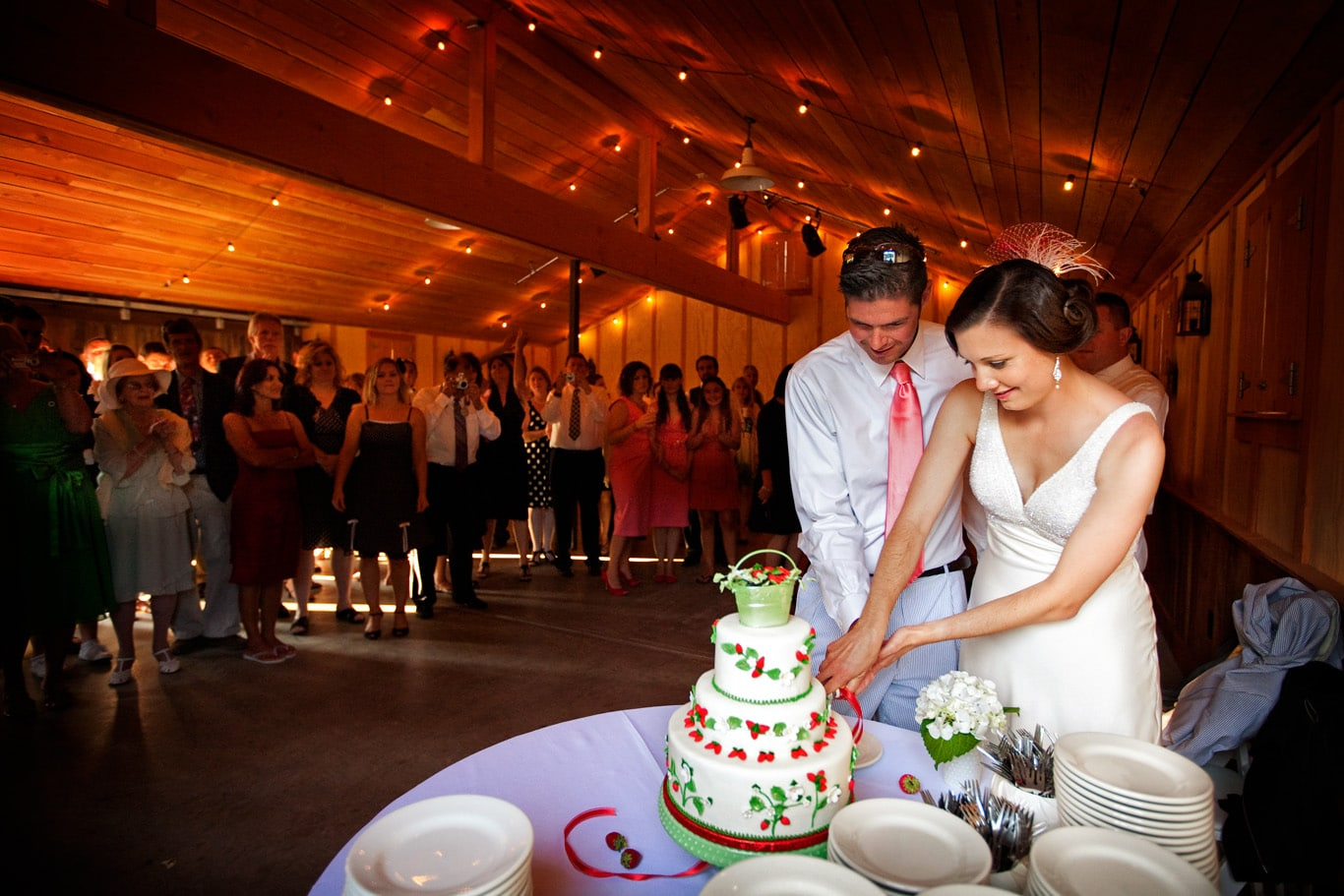 Radonich Ranch Wedding Cake Cutting