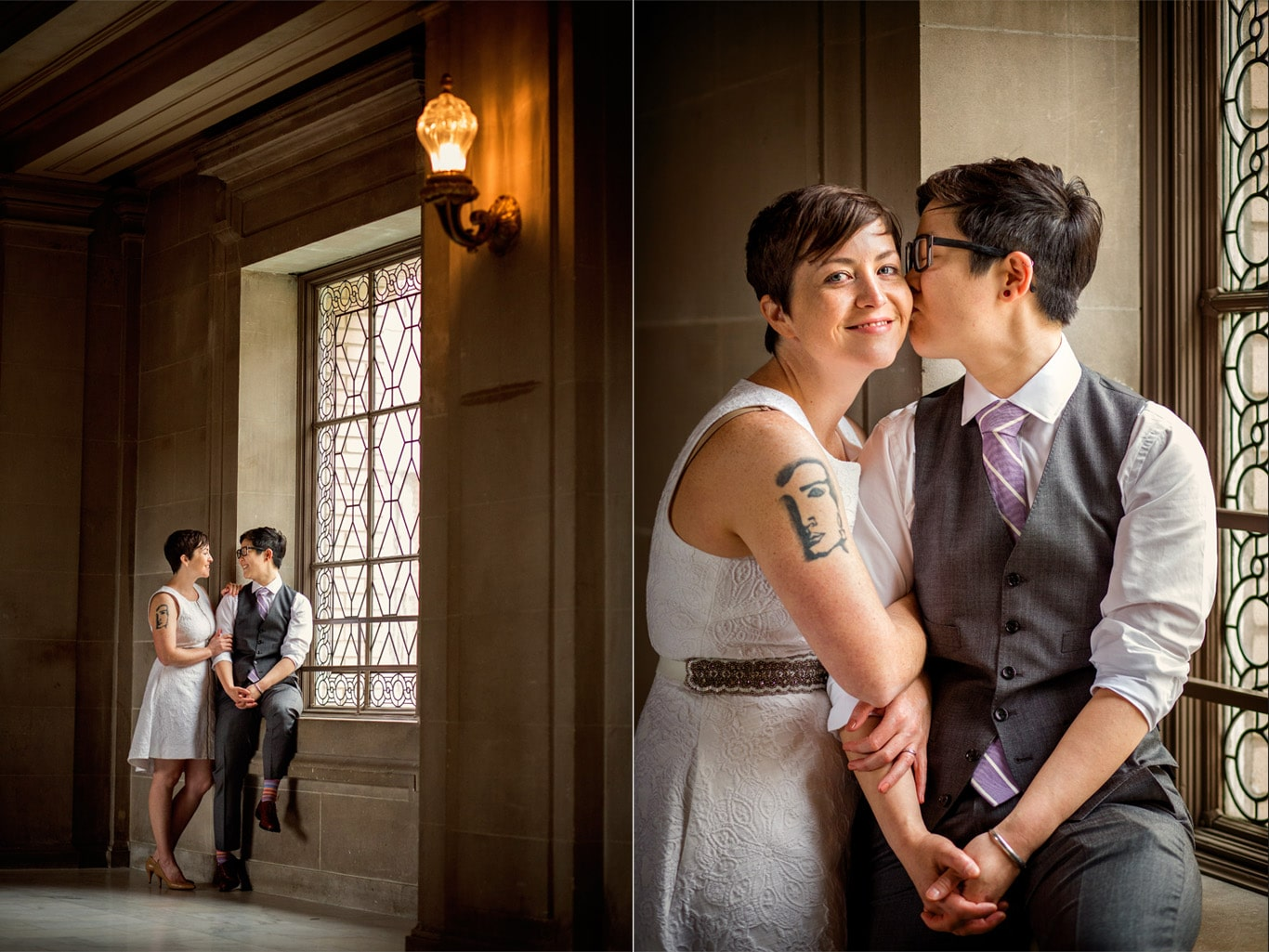 Wedding Portrait at City Hall
