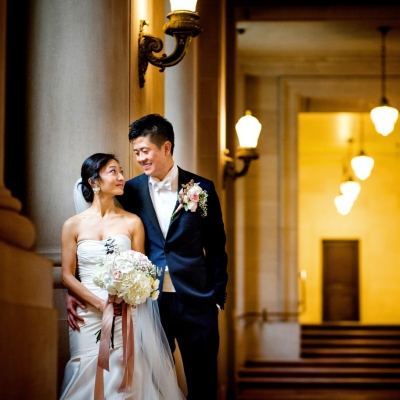 Fourth Floor Balcony Wedding at SF City Hall