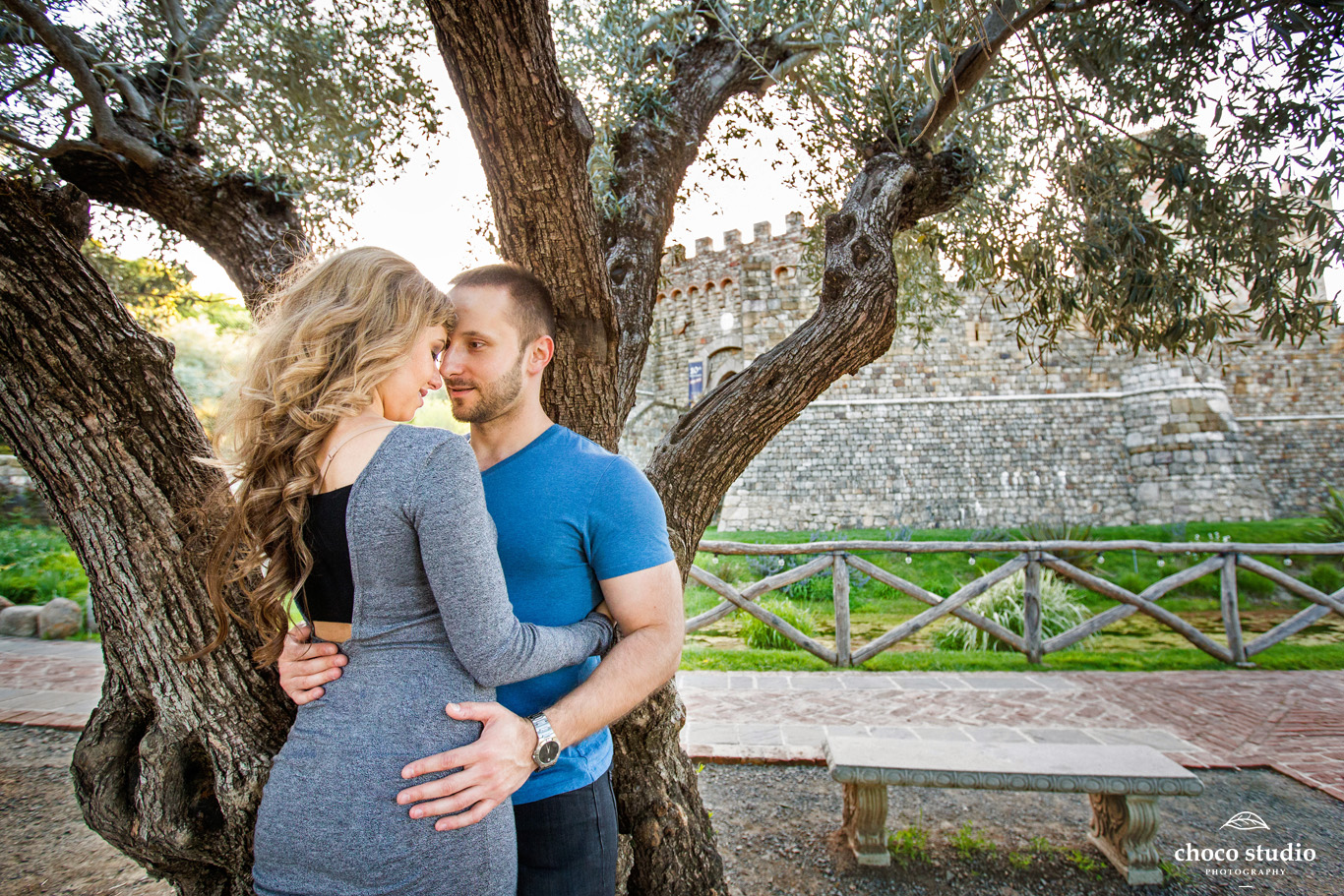 Engagement Photo at Castello di Amorosa