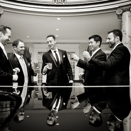 The Fairmont Hotel San Francisco Wedding Groomsmen