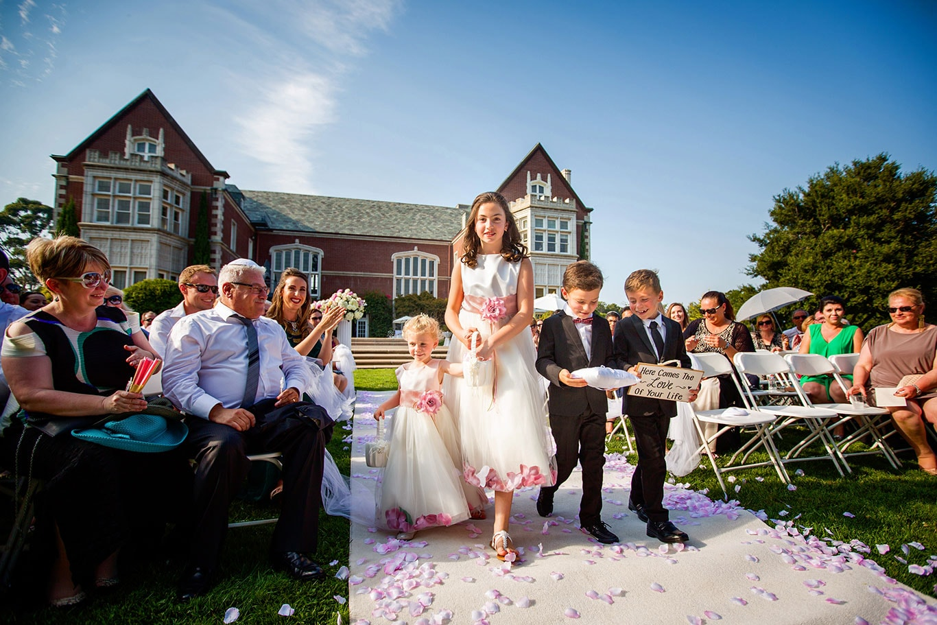 Kohl Mansion Wedding Outdoor Ceremony