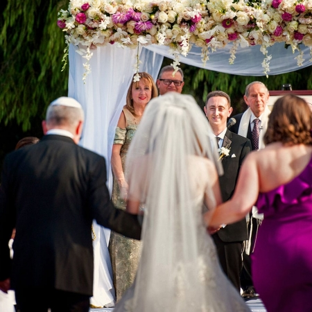 Kohl Mansion Wedding Outdoor Jewish Ceremony Processional