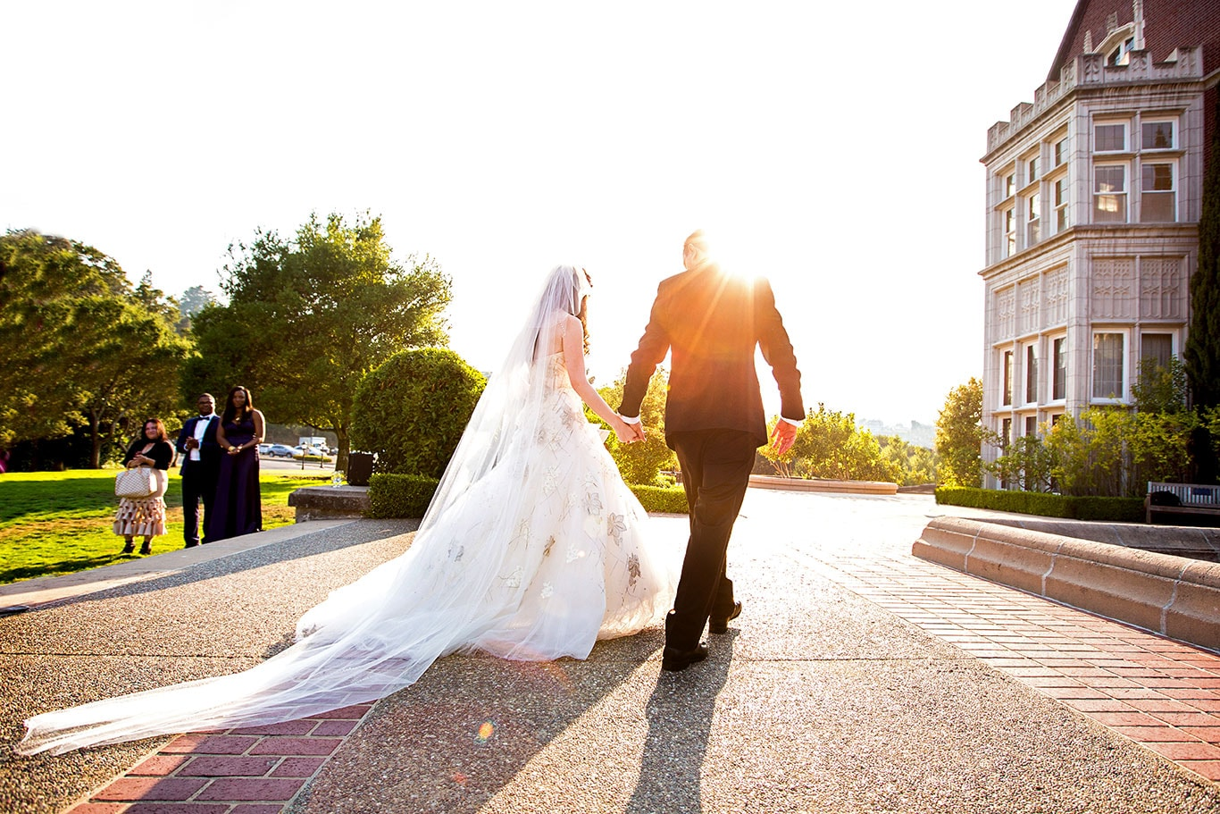 Kohl Mansion Wedding Outdoor Jewish Ceremony Recessional