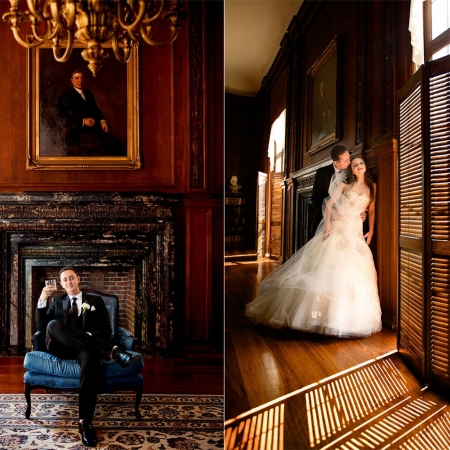Kohl Mansion Library Wedding