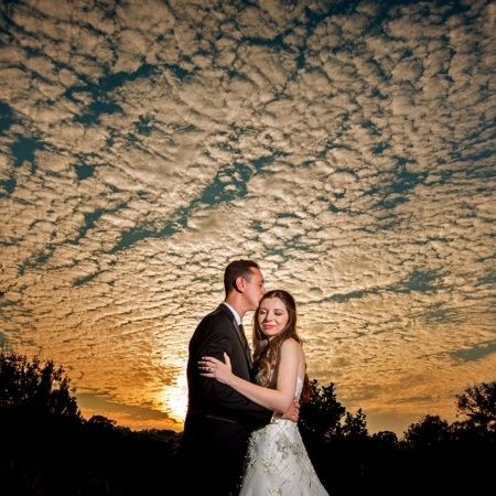 Kohl Mansion Wedding Sunset Portrait