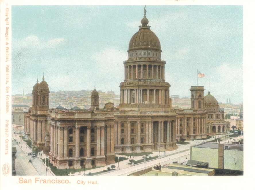 Original San Francisco City Hall in Color