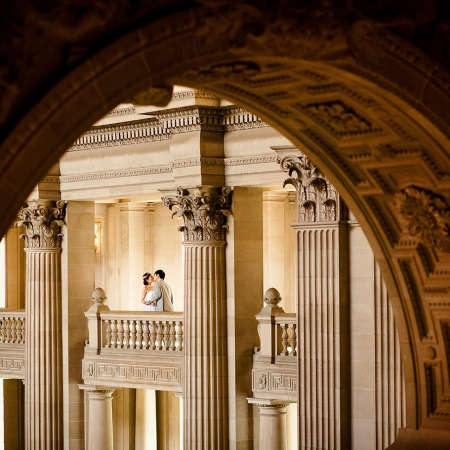 Creative Wedding Photography at City Hall