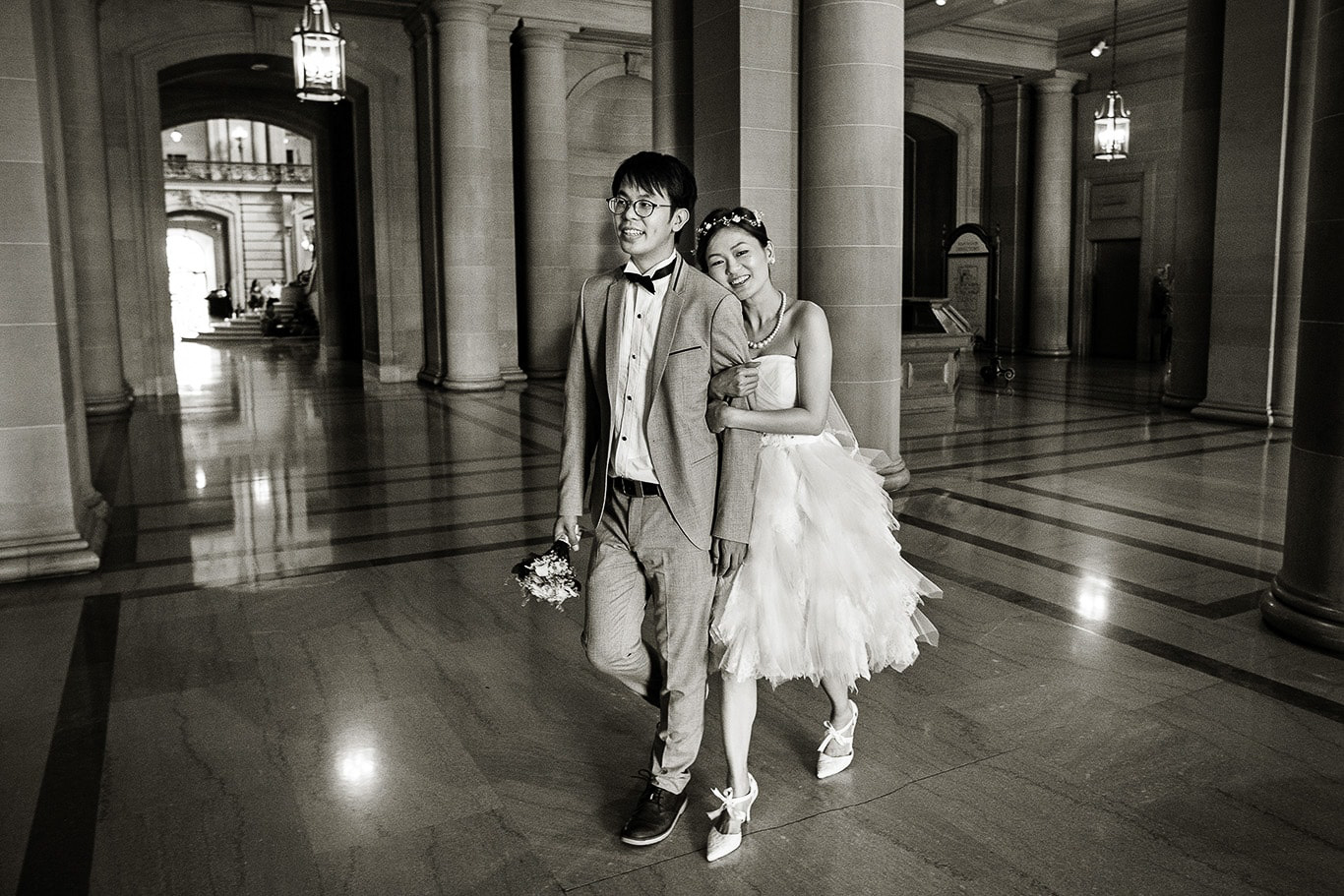 Wedding Day Photo at City Hall