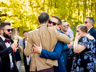 Candid and Emotional Wedding Photo at Arista Winery