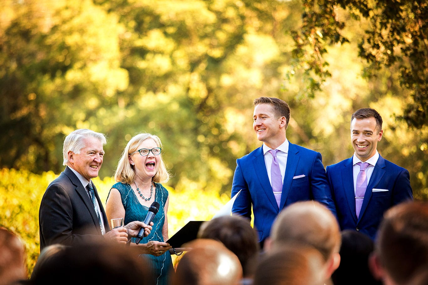 Wedding Ceremony at Arista Winery in Healdsburg