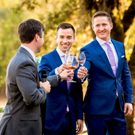 Ceremony Toast in Healdsburg at Arista