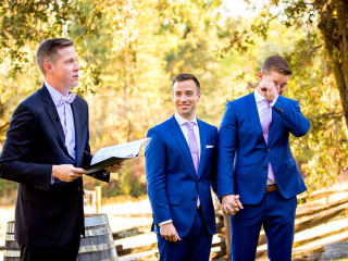 Emotional Ceremony Moment at a Wedding in Healdsburg