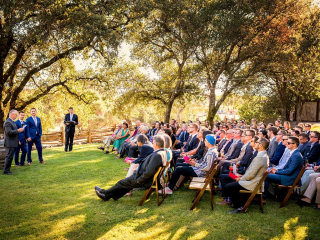 Wedding Ceremony on the Arista Outside Lawn