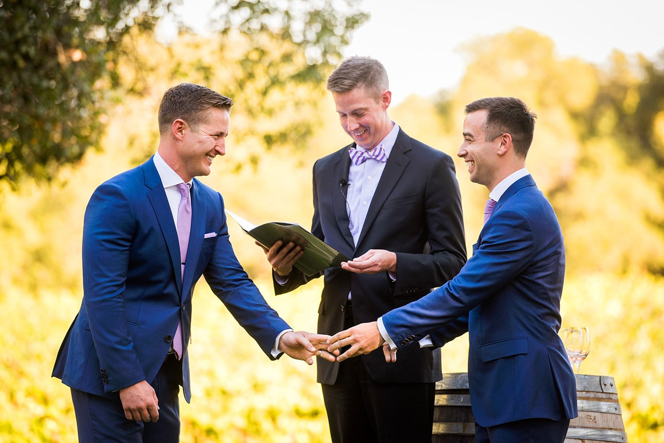 Same-Sex Wedding Ceremony in Healdsburg