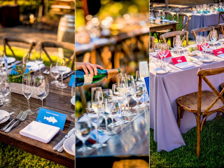 Arista Winery Table Setup and Decorations for Wedding