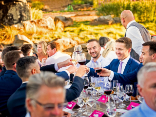 Wedding Toasts at Arista Winery Reception